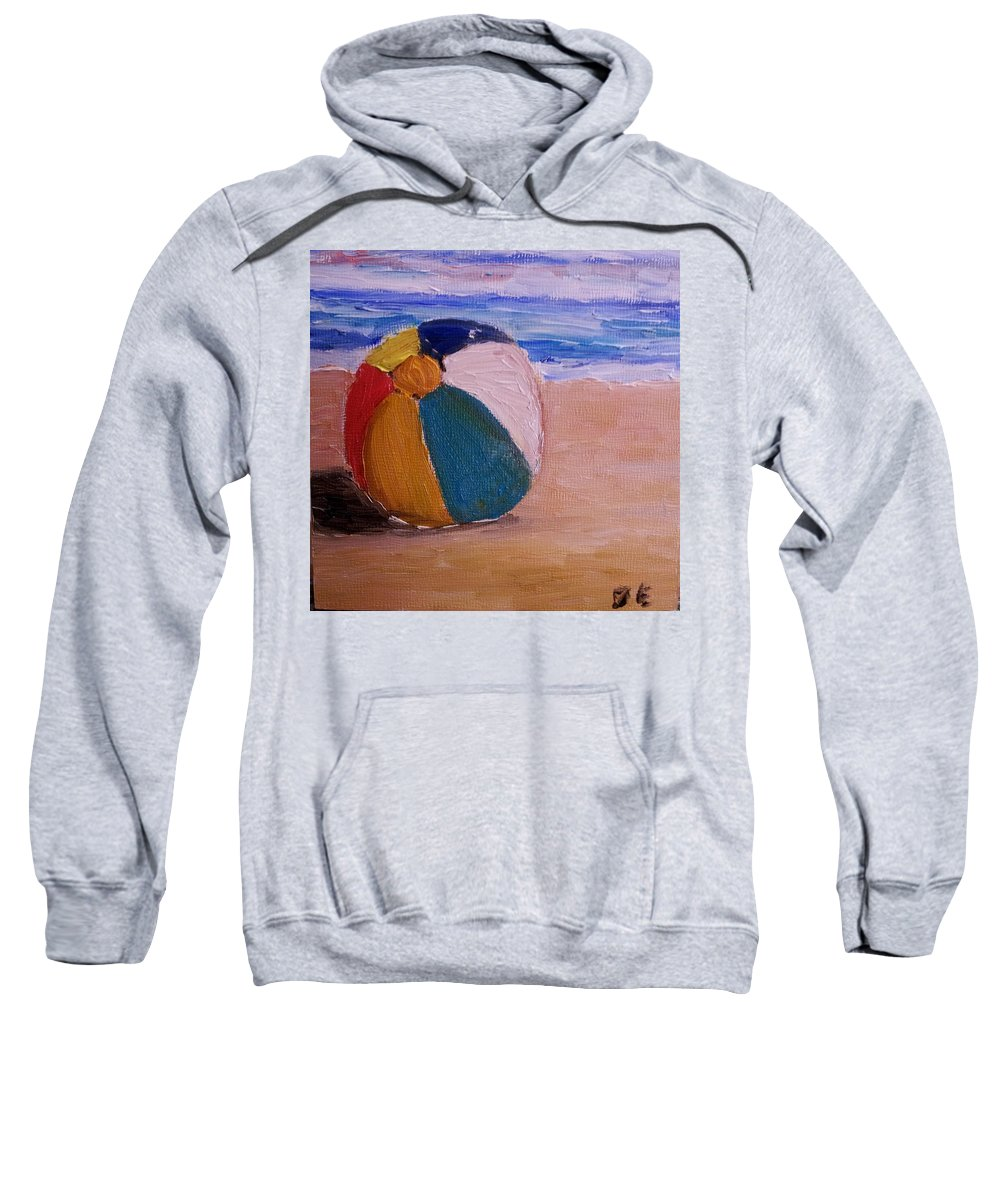 Beach Ball Sweatshirt featuring the painting Beach Ball by Diane Elgin