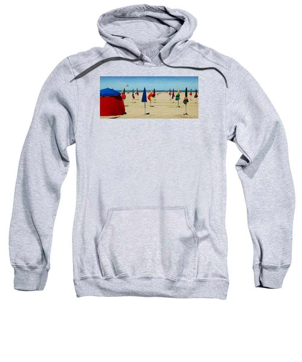 Beach Sweatshirt featuring the photograph Beach In Deauville by RicardMN Photography