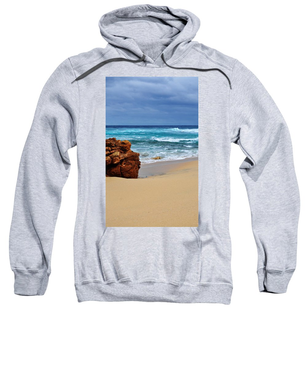 Landscape Sweatshirt featuring the photograph Beach Rocks by Phill Petrovic
