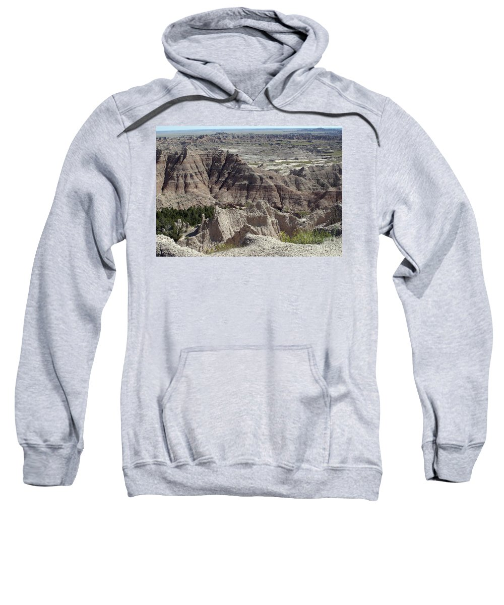 Badlands Sweatshirt featuring the photograph Beautiful Badlands by Living Color Photography Lorraine Lynch