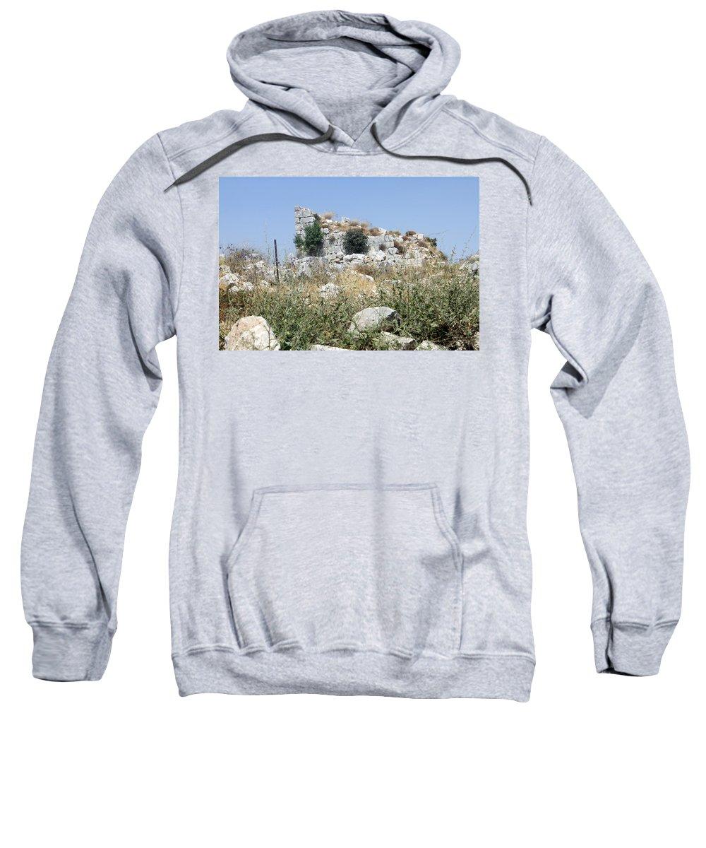 Beitin Sweatshirt featuring the photograph Beitin Tower by Munir Alawi