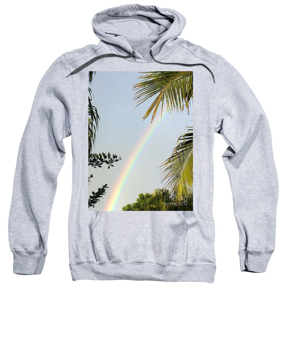 Rainbow Sweatshirt featuring the photograph Believe by Priscilla Richardson