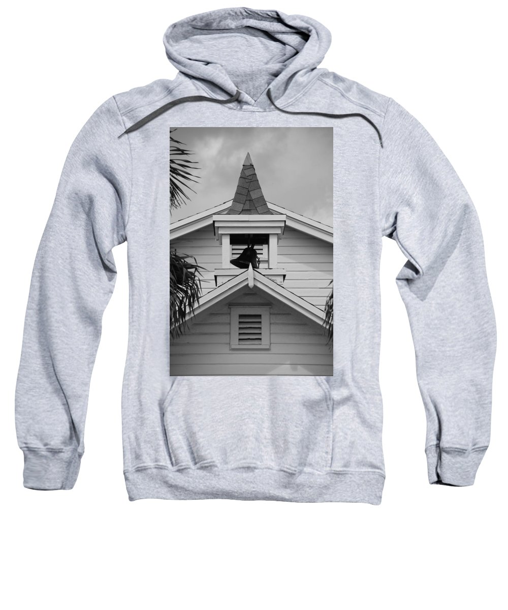 Architecture Sweatshirt featuring the photograph Bell Tower In Black And White by Rob Hans