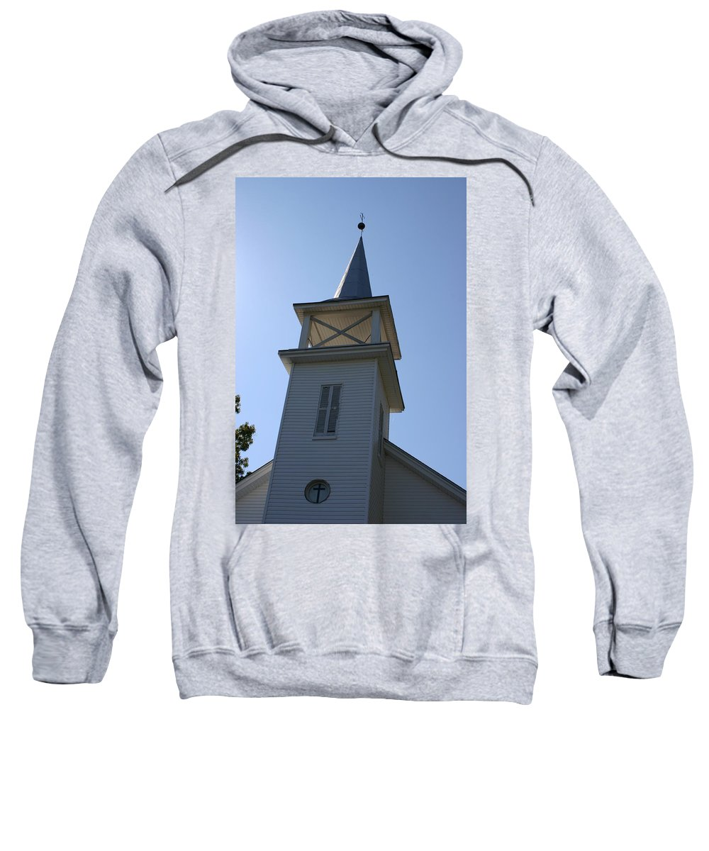 Church Sweatshirt featuring the photograph Bell Tower by Leann DeBord