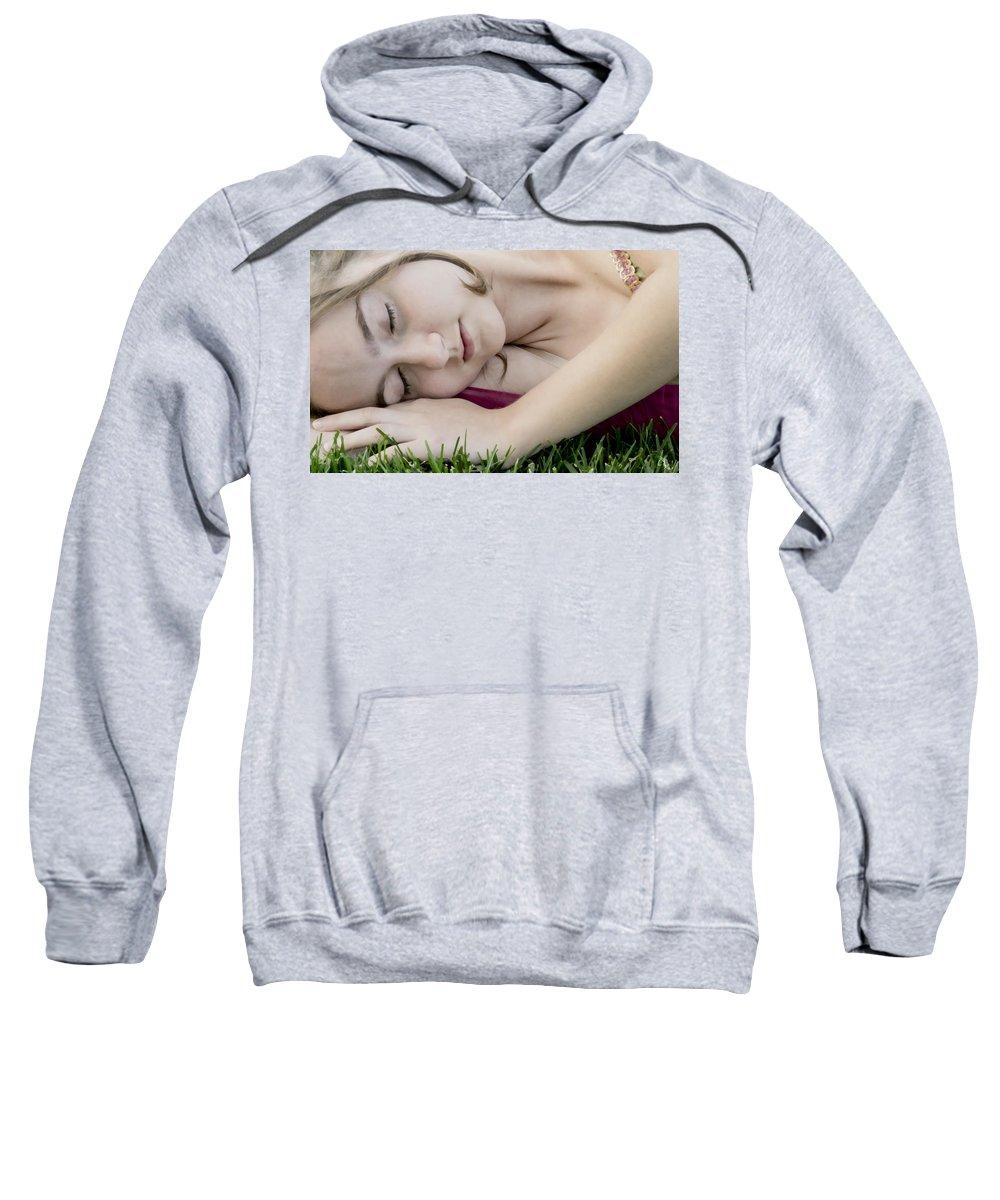 Girl Sweatshirt featuring the photograph Bella Sleeps by Angelina Vick