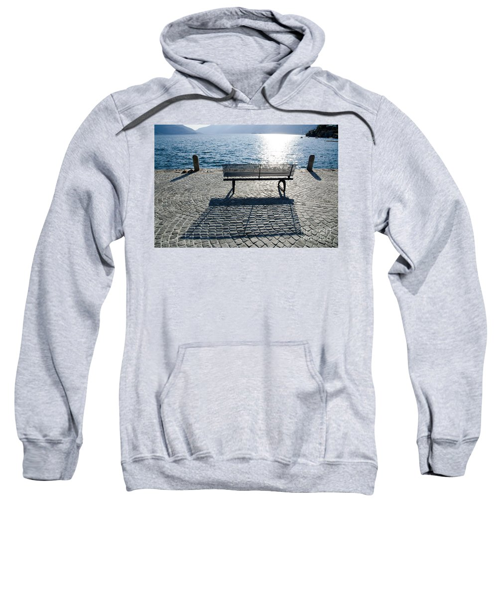 Bench Sweatshirt featuring the photograph Bench With Shadow by Mats Silvan