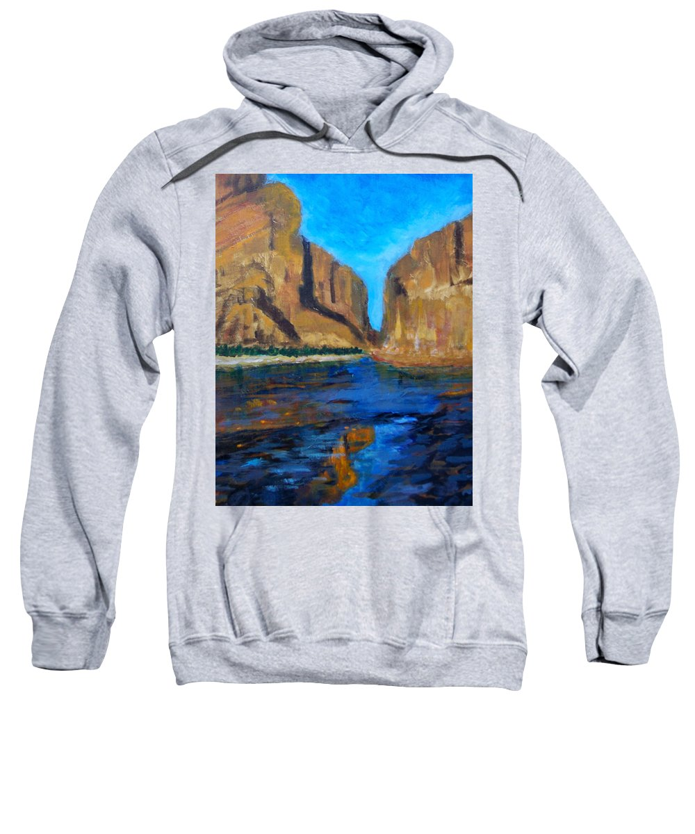 Desert Sweatshirt featuring the painting Big Bend by Robert Gross
