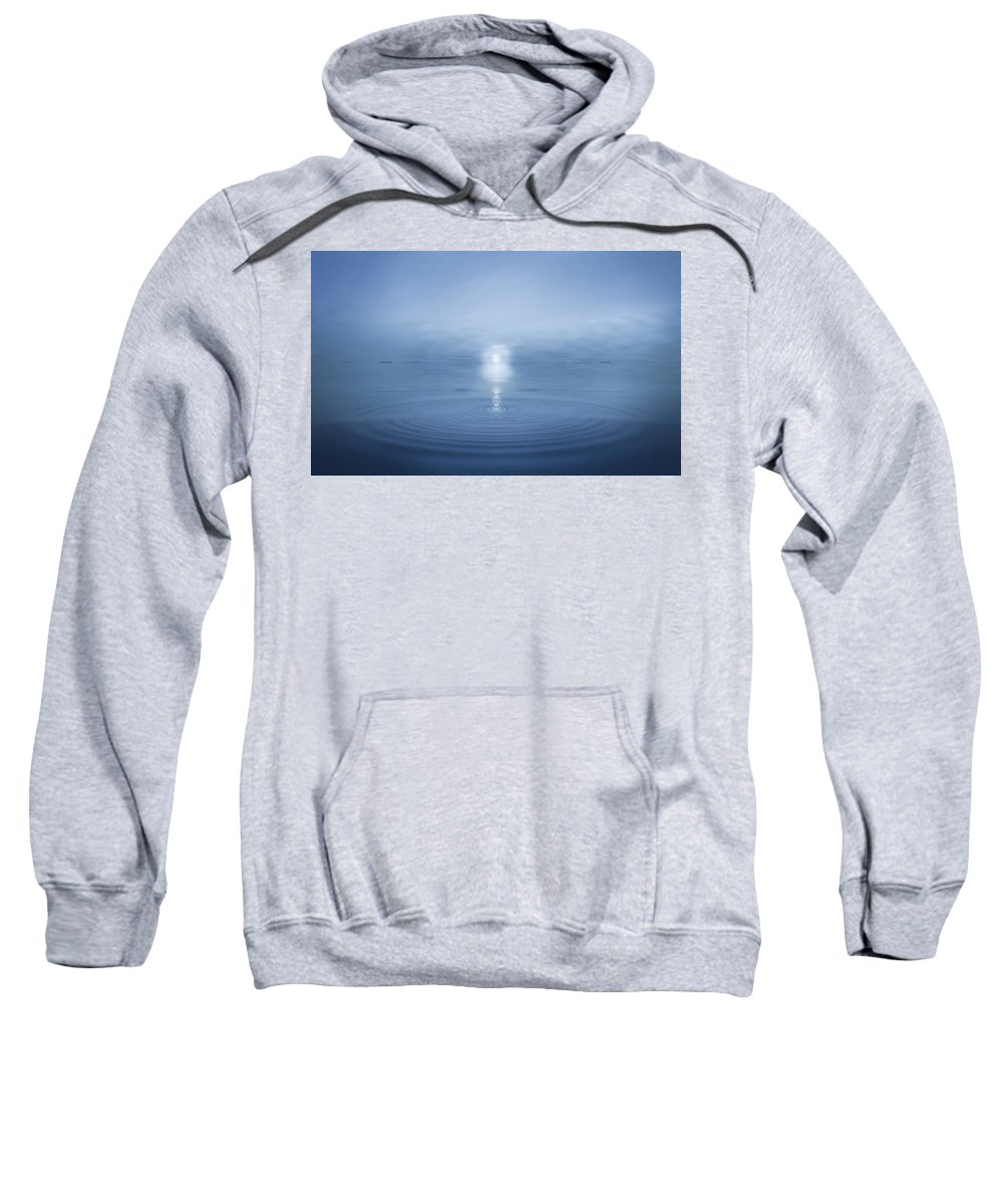 Blue Sweatshirt featuring the photograph Big Blue by Andy Astbury