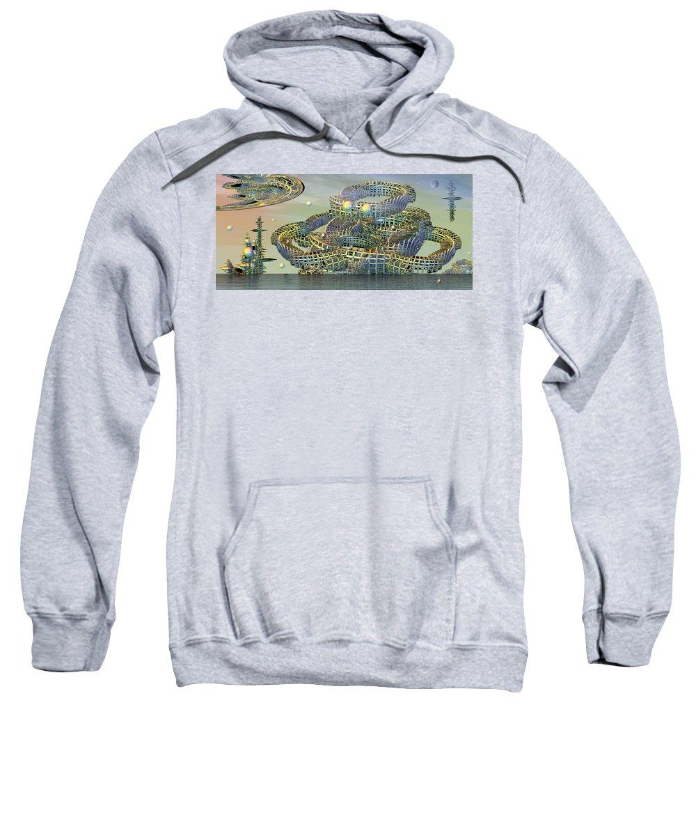 Phil Sadler Sweatshirt featuring the digital art big by Phil Sadler
