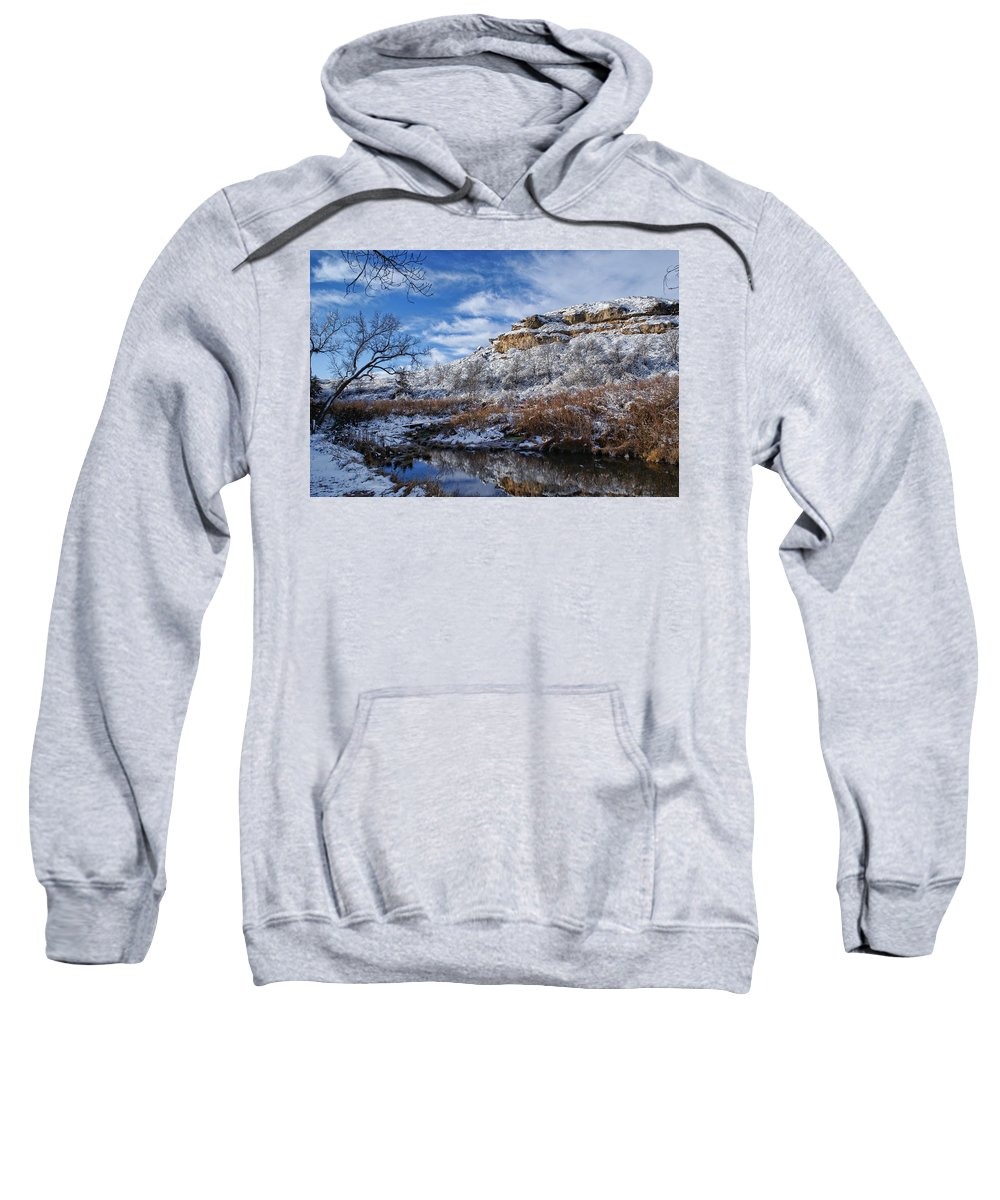 Winter Sweatshirt featuring the photograph Big Springs by Alan Hutchins
