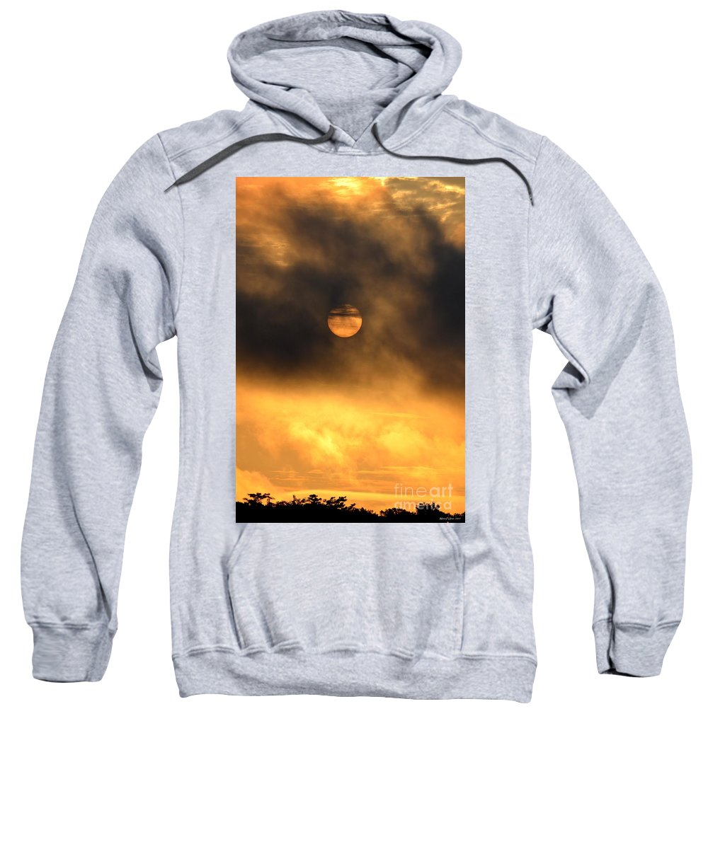 Billowing Sweatshirt featuring the photograph Billowing Sunrise by Maria Urso