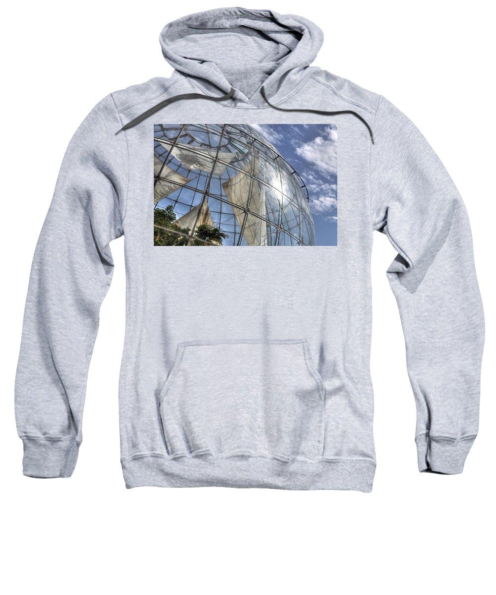 Biosphere Sweatshirt featuring the photograph biosfera in Genoa by Joana Kruse