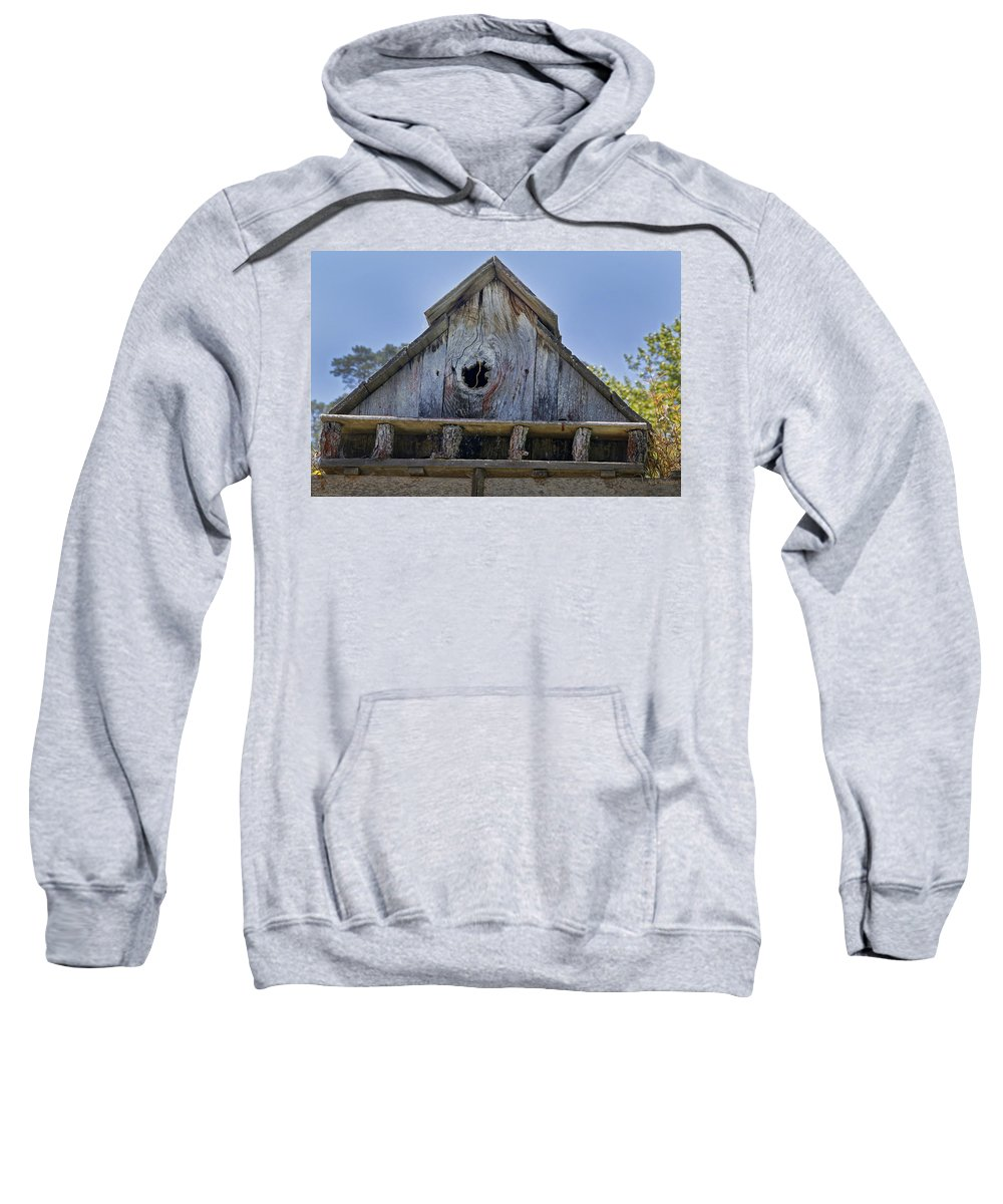 Central Coast Sweatshirt featuring the photograph Birdhouse In Cambria by Mick Anderson