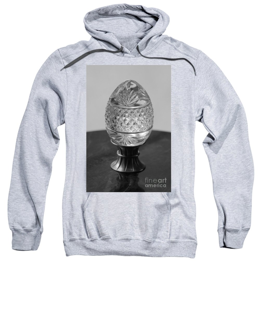 Egg Sweatshirt featuring the photograph Black And White Egg by Michelle Powell