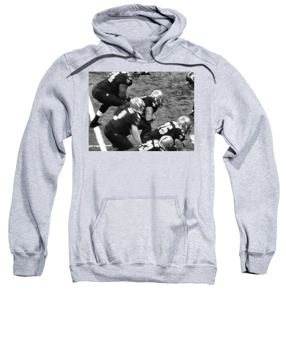 B/w Sweatshirt featuring the photograph Blackandgoldnblackandwhite by Anthony Walker Sr