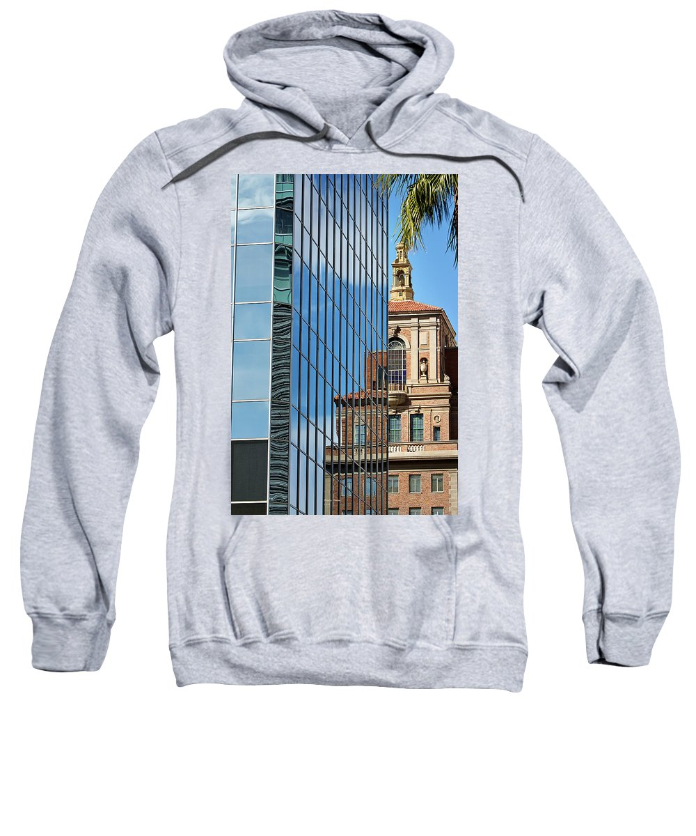 Building Sweatshirt featuring the photograph Blending Architecture by Phyllis Denton