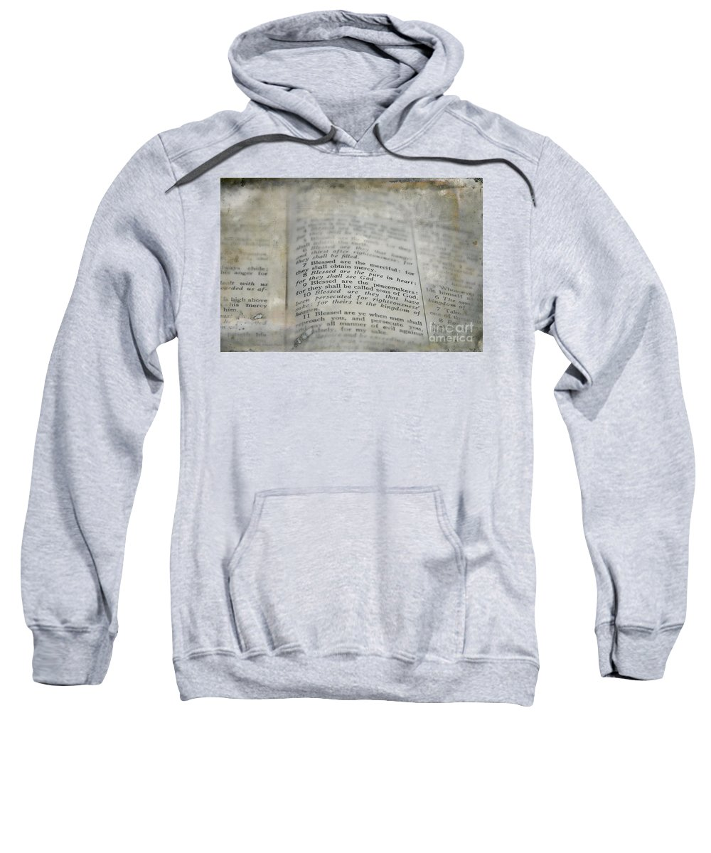 Beatitudes Sweatshirt featuring the photograph Blessed by David Arment