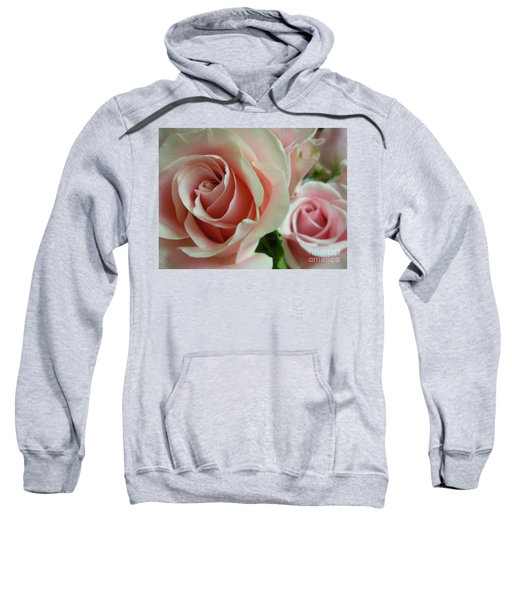 Rose Sweatshirt featuring the photograph Bliss Closeup by Maria Bonnier-Perez