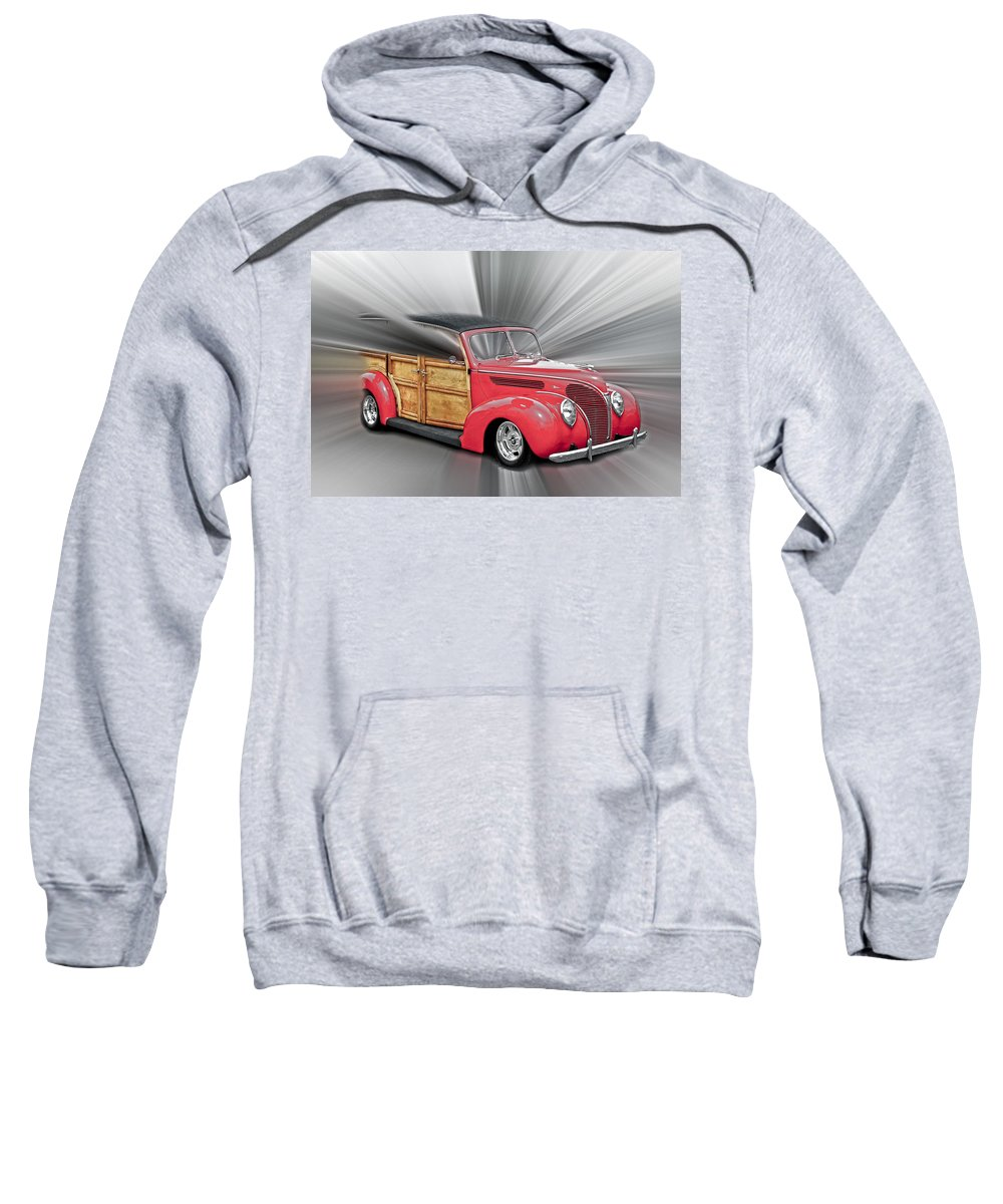 1938 Ford Woody Sweatshirt featuring the photograph Blown Woody by Steve McKinzie