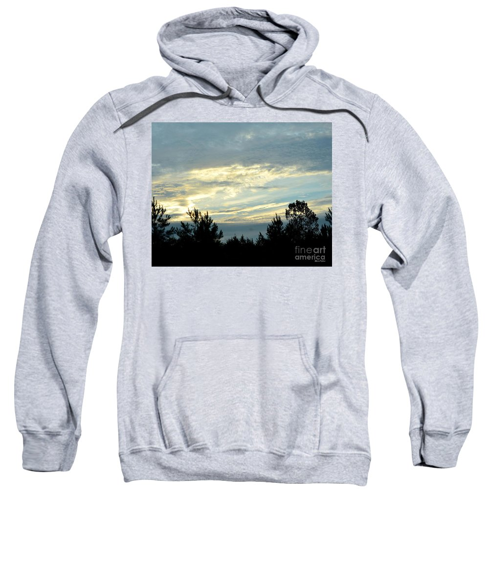 Blue Sweatshirt featuring the photograph Blue Morning by Maria Urso