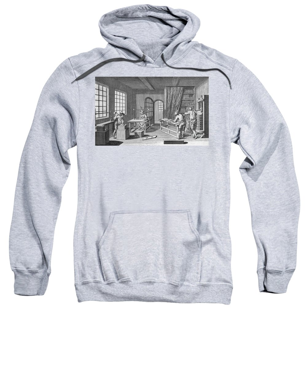 1763 Sweatshirt featuring the photograph Bookbinder, 1763 by Granger