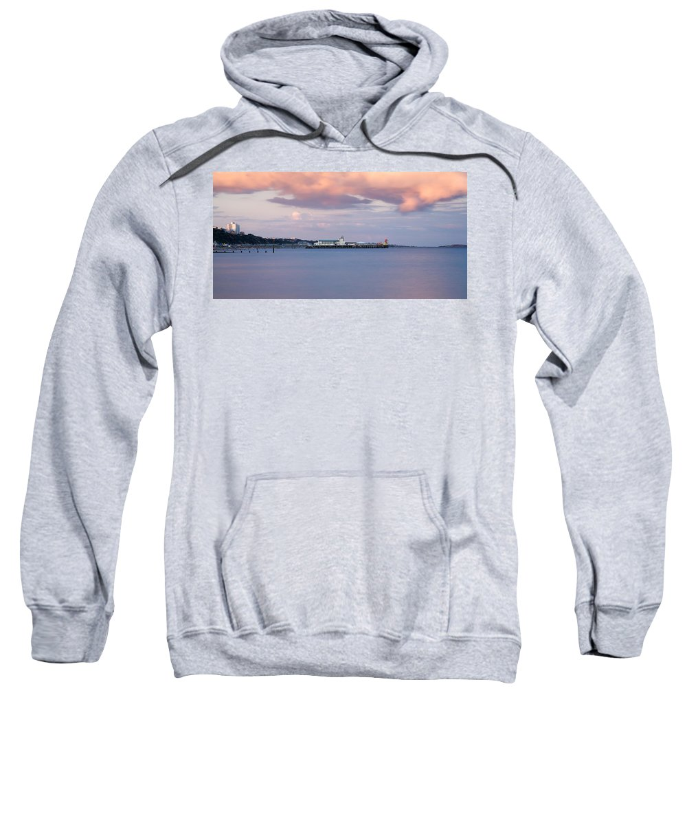 Bournemouth Sweatshirt featuring the photograph Bournemouth Pier At Sunset by Ian Middleton