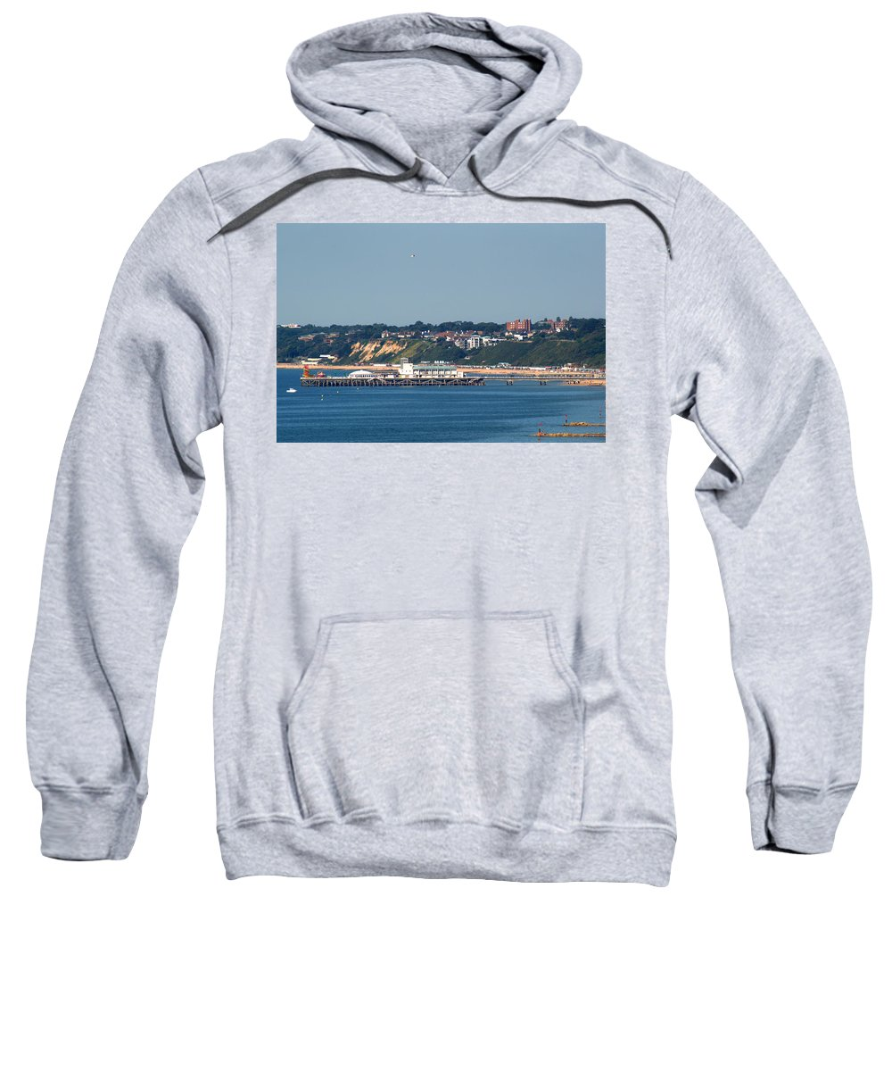 Bournemouth Pier Sweatshirt featuring the photograph Bournemouth Pier In Dorset by Chris Day