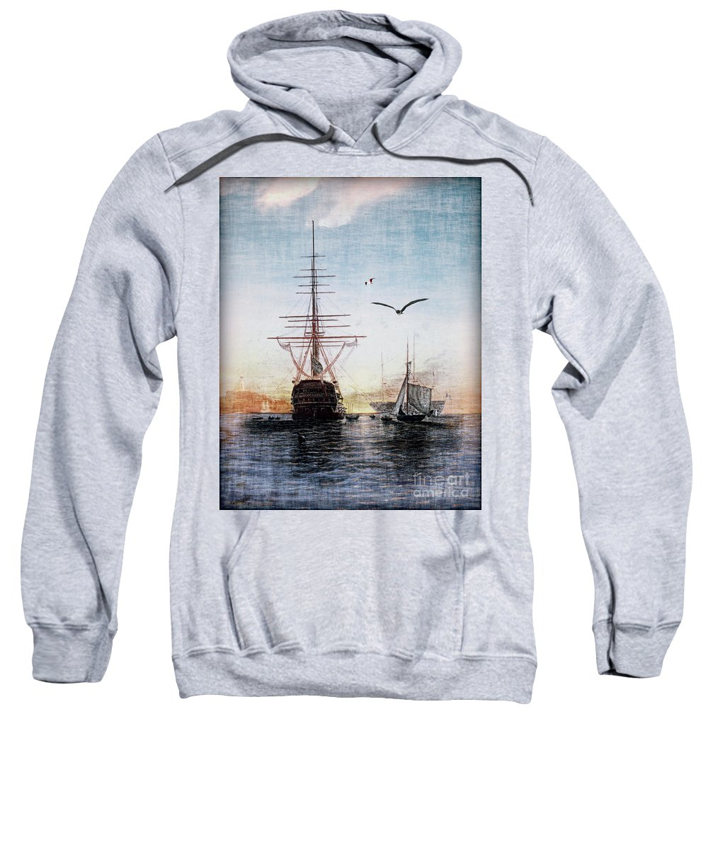 Seascapes Sweatshirt featuring the digital art Brave New World by Lianne Schneider