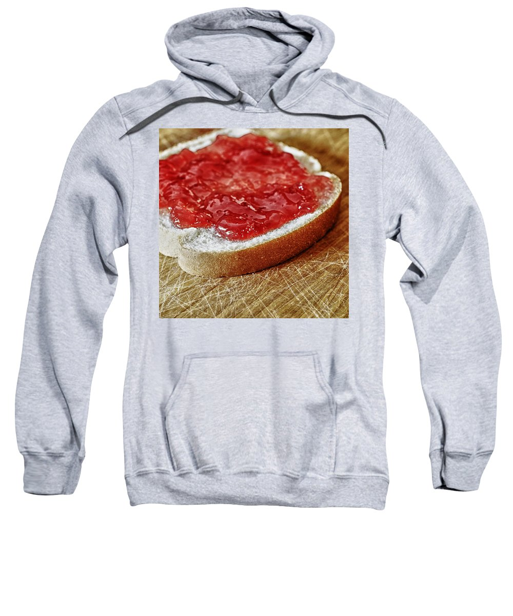 Food Sweatshirt featuring the photograph Bread And Jelly by Skip Nall