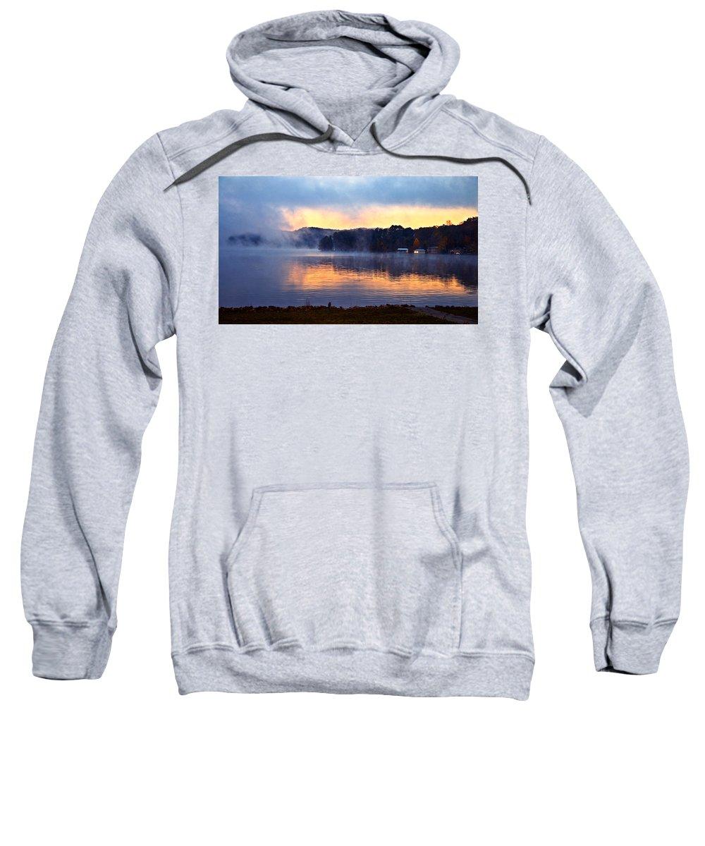Landscape Sweatshirt featuring the photograph Break Of Dawn by Susan Leggett