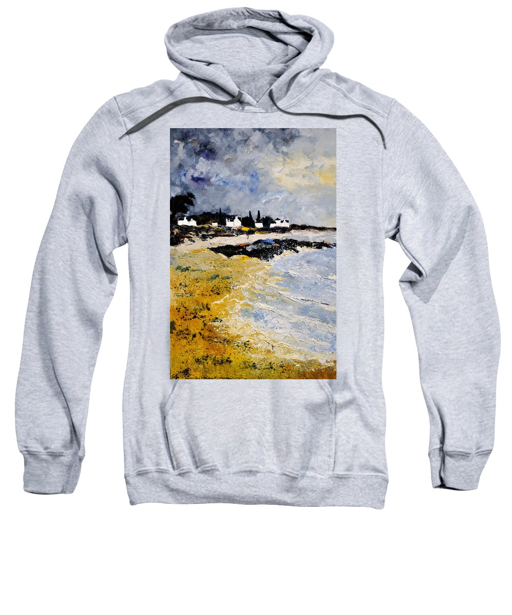 Sescape Sweatshirt featuring the painting Bretagne Sascape by Pol Ledent