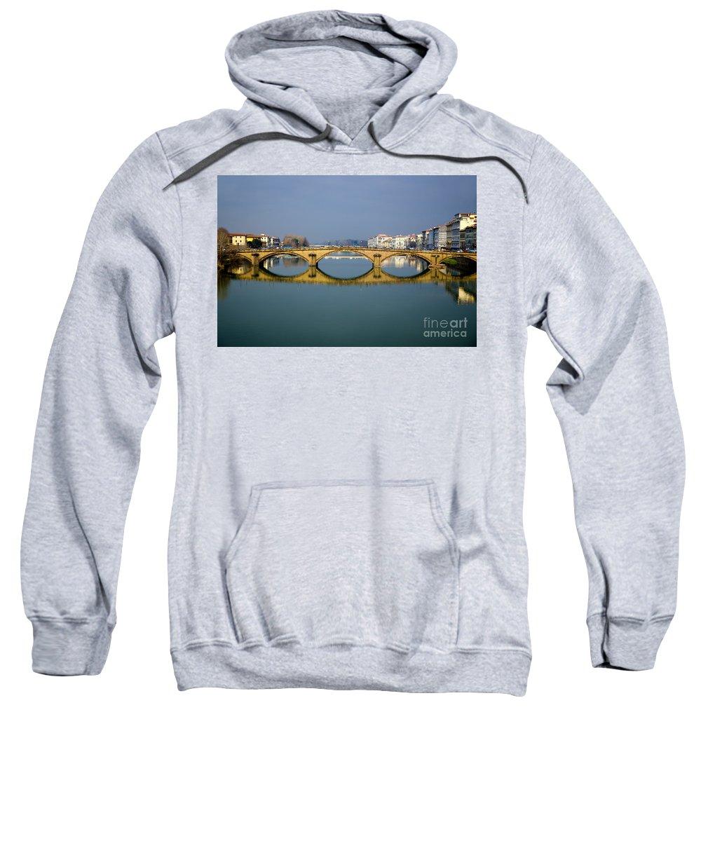 Bridge Sweatshirt featuring the photograph Bridge In Florence by Mats Silvan