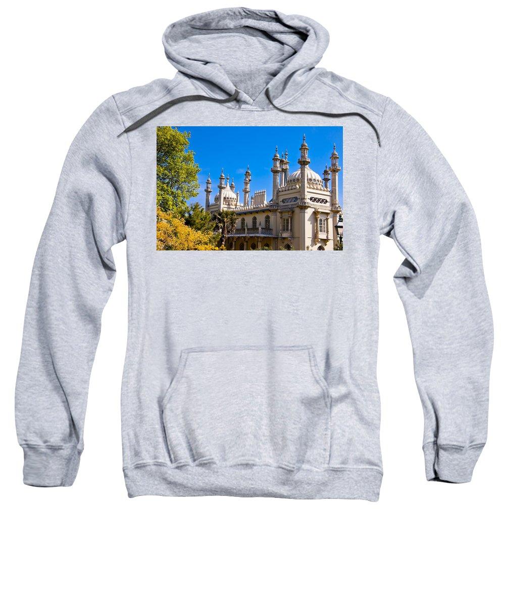 England Sweatshirt featuring the photograph Brighton Royal Pavillion - England by Jon Berghoff
