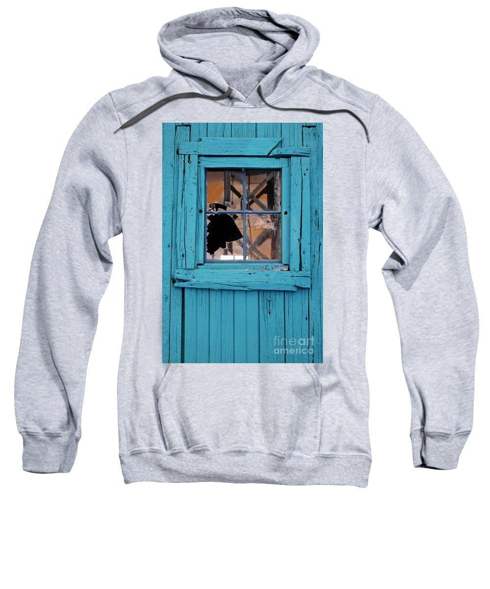 Broken Sweatshirt featuring the photograph Broken Window by Jill Battaglia