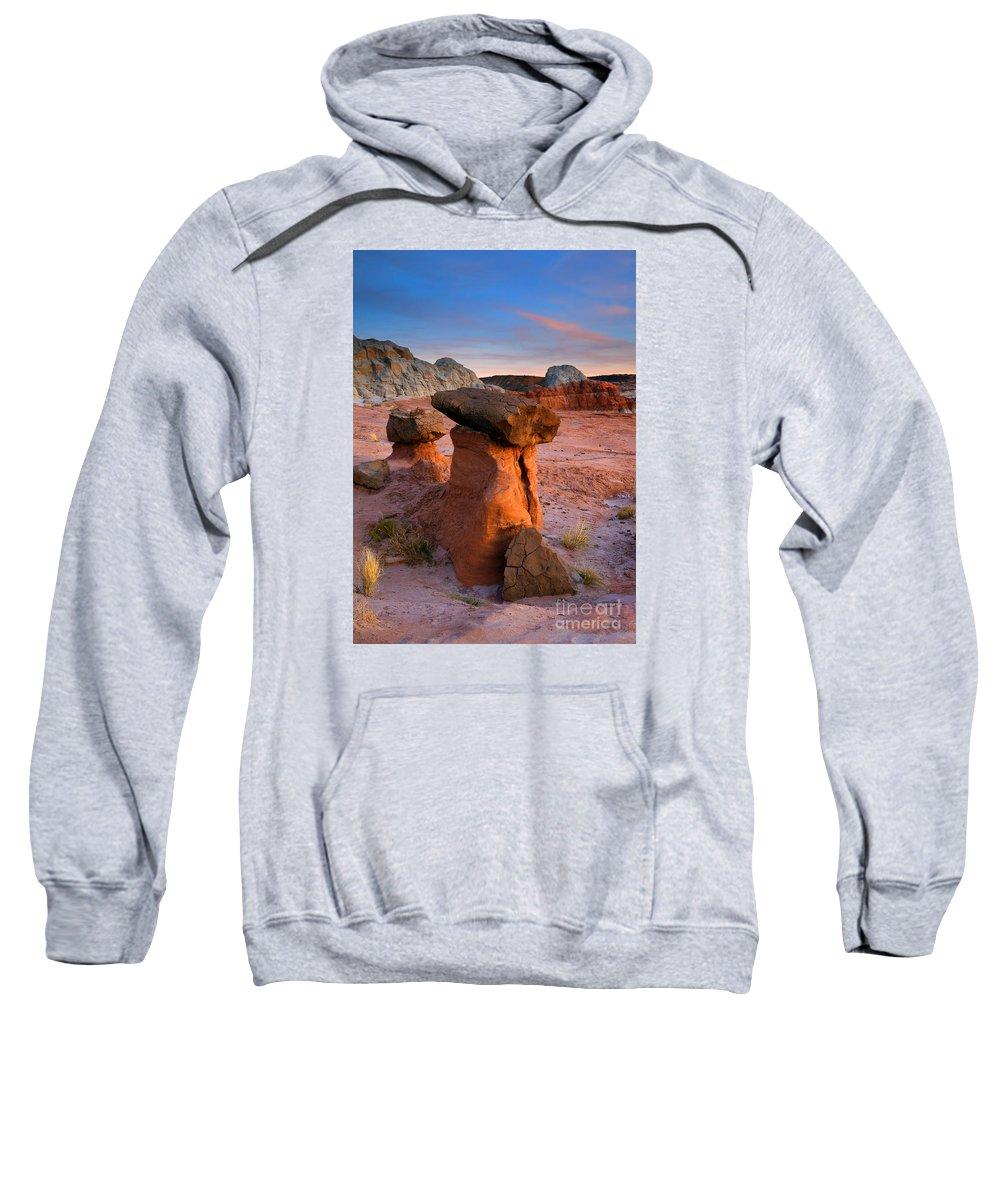 Hoodoo Sweatshirt featuring the photograph Brokentop Hoodoo Sunset by Mike Dawson