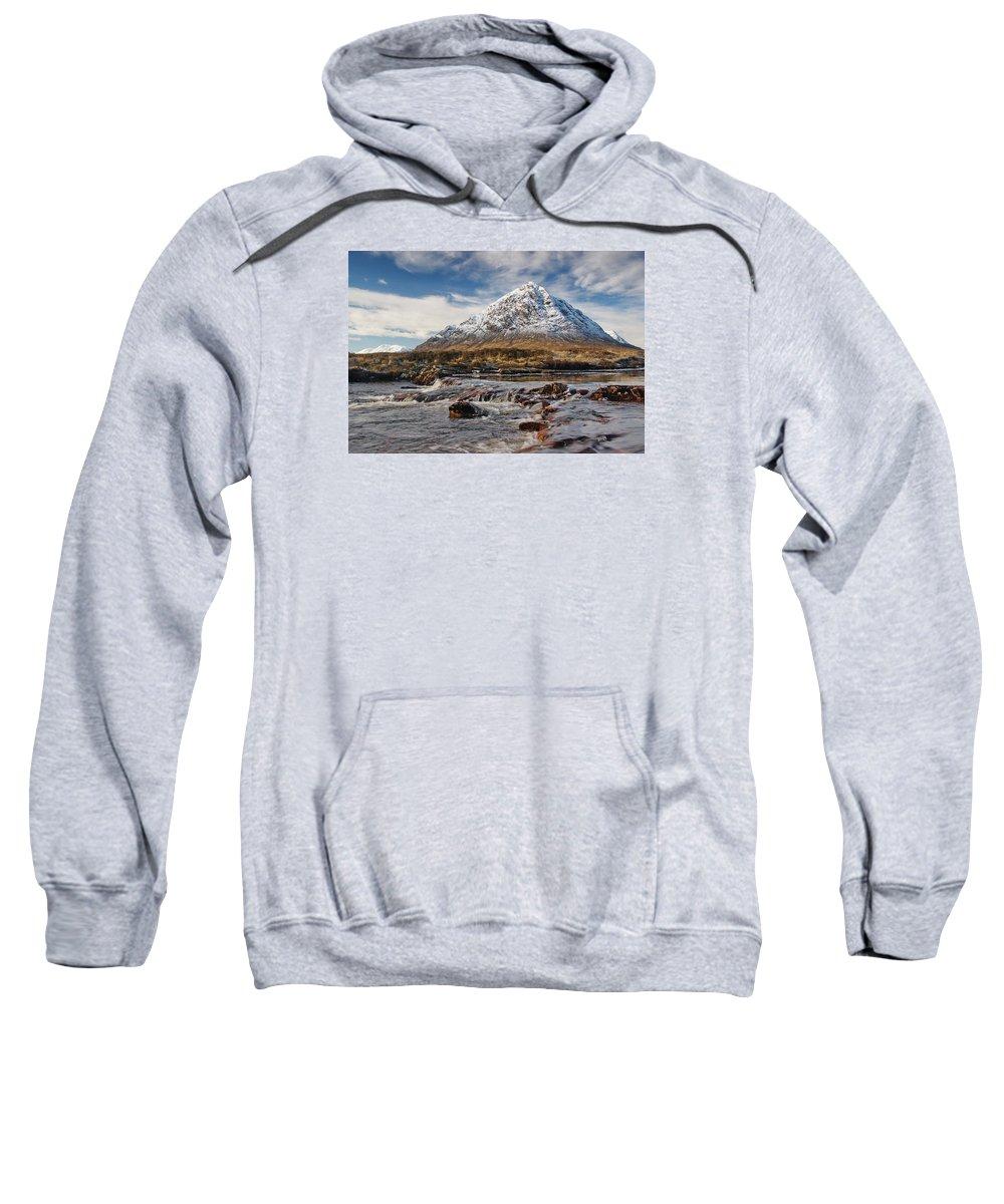 Scotland Sweatshirt featuring the digital art Buchaille Etive Mhor - Glencoe by Pat Speirs