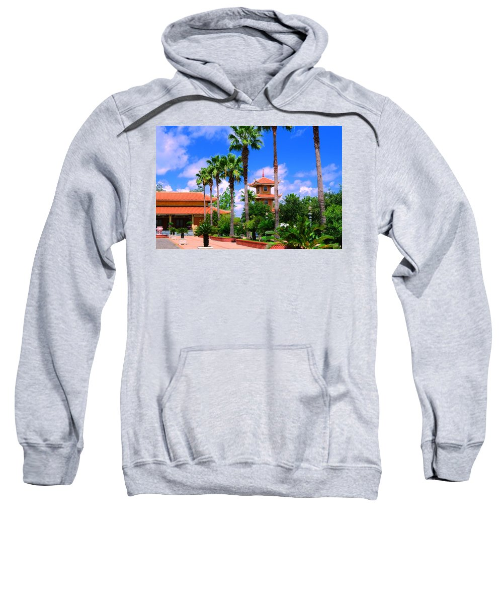 Buddhist Sweatshirt featuring the photograph Buddhist Temple by David Morefield