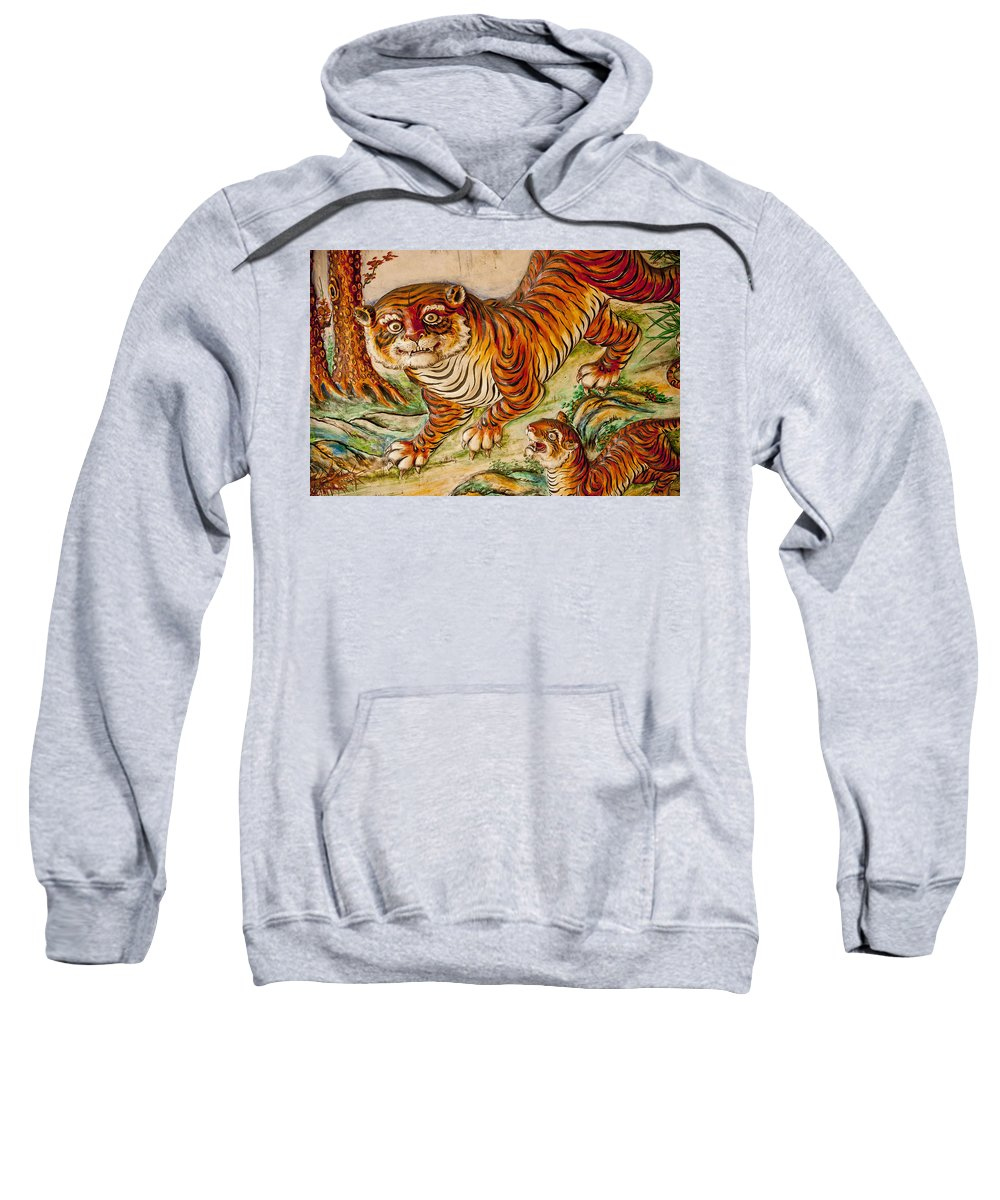 Animal Likeness Sweatshirt featuring the photograph Buddhist Temple Decorations In by Rowan Gillson