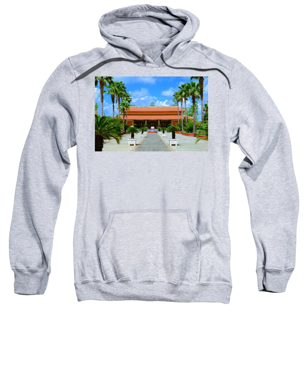 Buddha Sweatshirt featuring the photograph Buddhist Temple In Houston by David Morefield