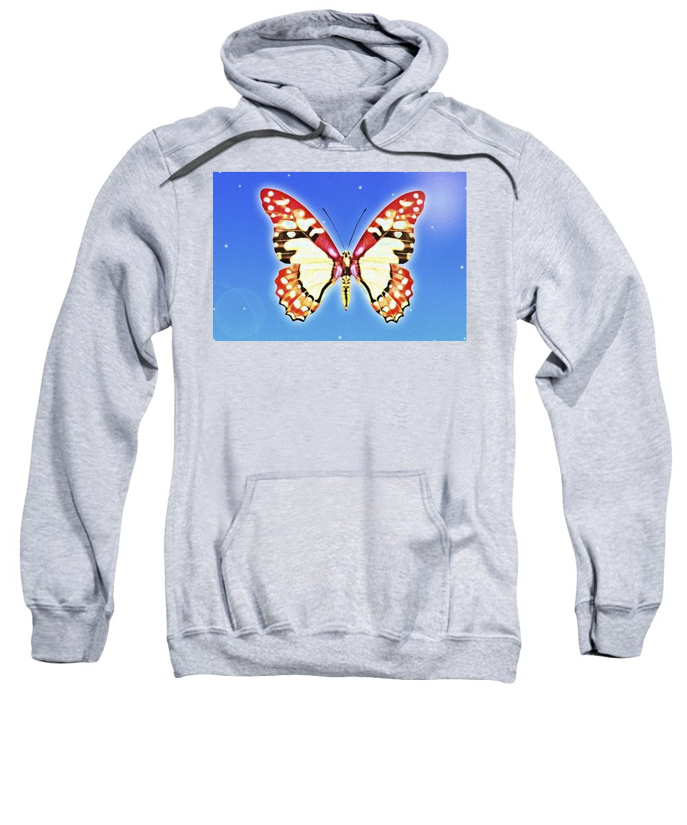 Animals Sweatshirt featuring the photograph Butterfly by Chris Knorr