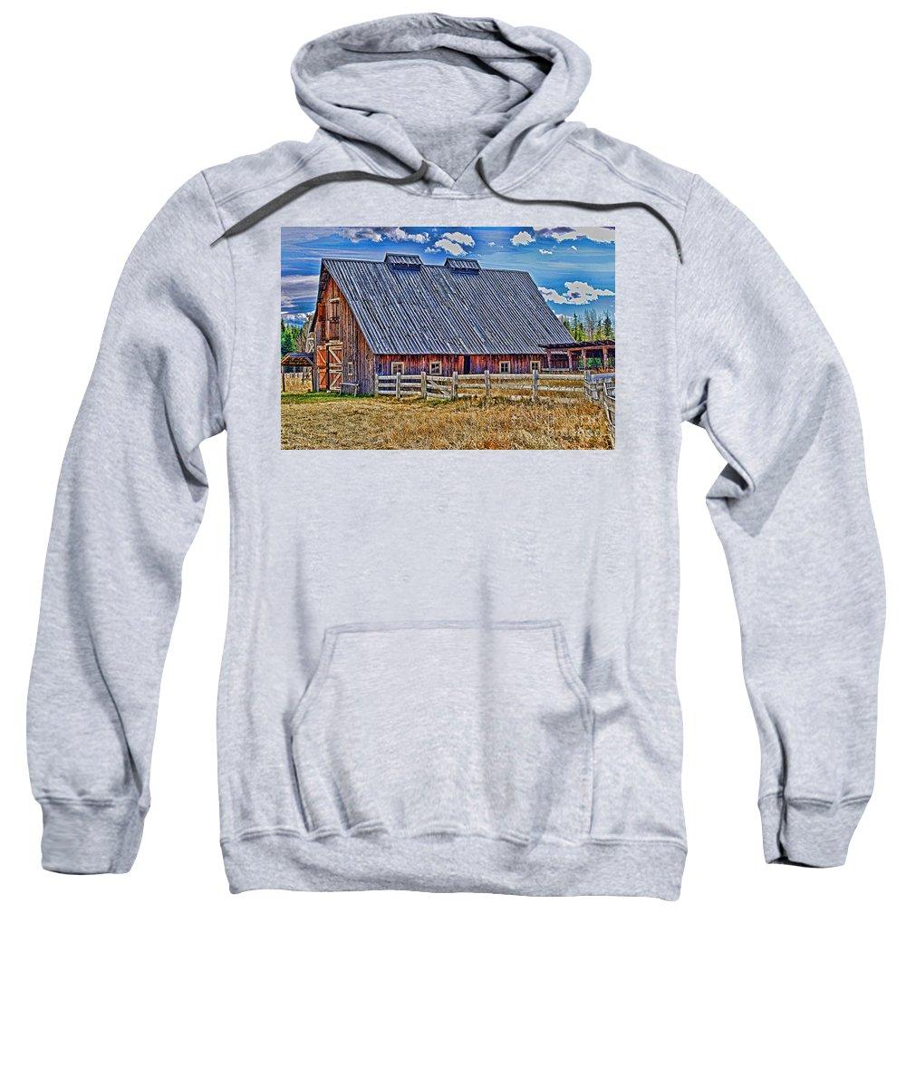Barns Sweatshirt featuring the photograph Calgary Barn Hdr by Randy Harris