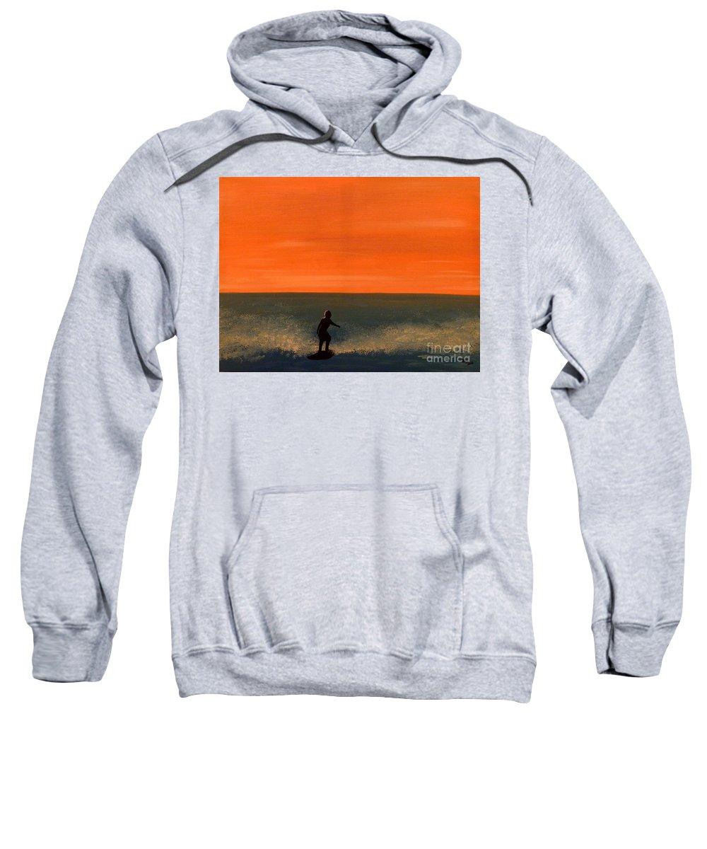 California Sweatshirt featuring the painting California Boy by Alys Caviness-Gober