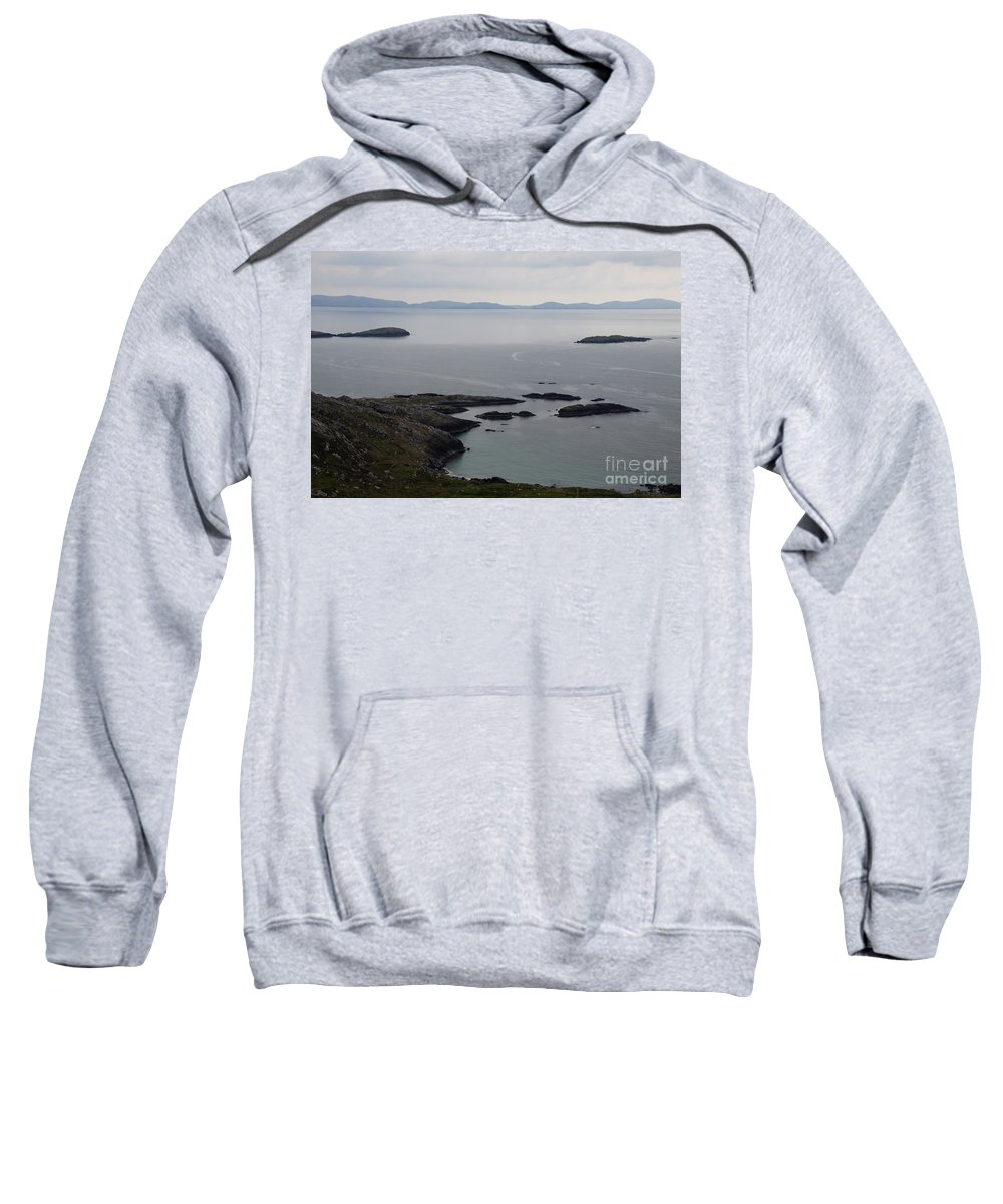 Rock Sweatshirt featuring the photograph Calm Sea by Christiane Schulze Art And Photography