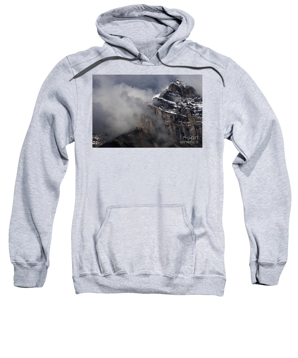 Canadian Rockies Sweatshirt featuring the photograph Canadian Rockies by Bob Christopher