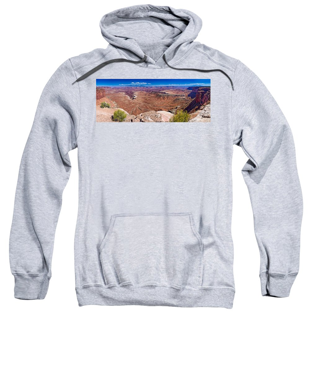 Canyonlands Sweatshirt featuring the photograph Canyon In Canyonlands by Greg Nyquist