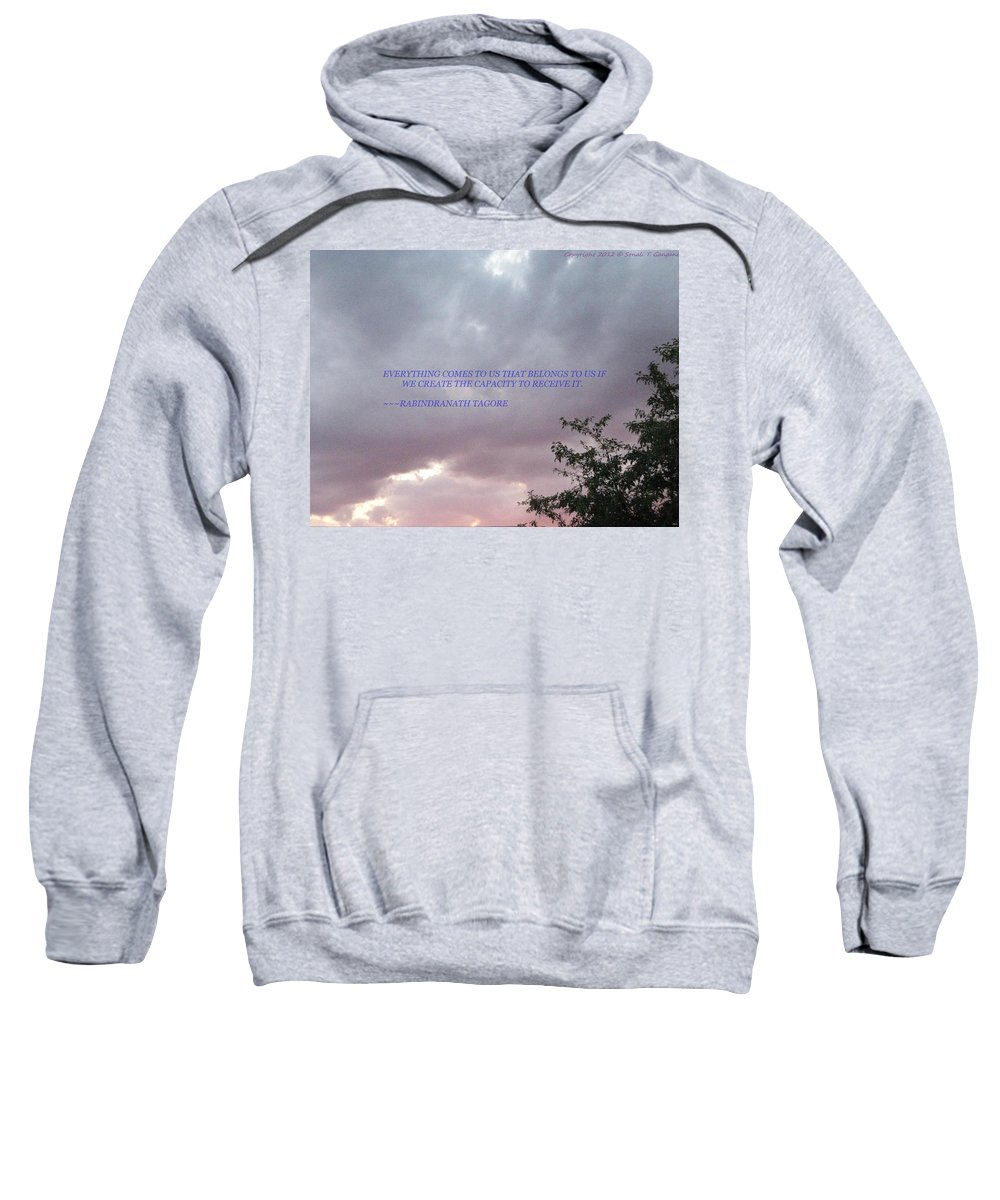 Capacity Sweatshirt featuring the photograph Capability by Sonali Gangane