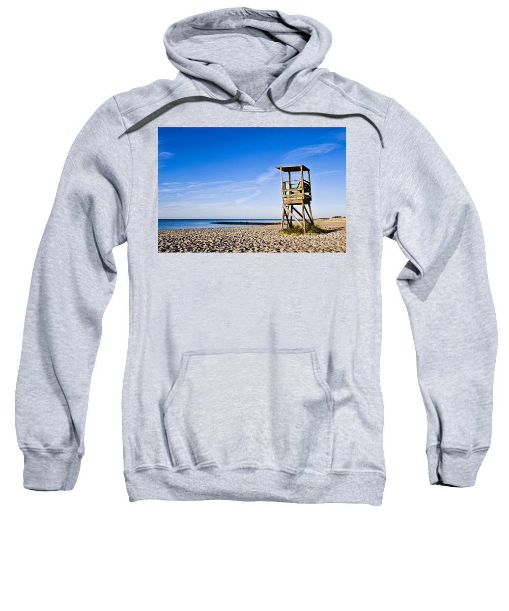 Beach Sweatshirt featuring the photograph Cape Cod Lifeguard Stand by John Greim