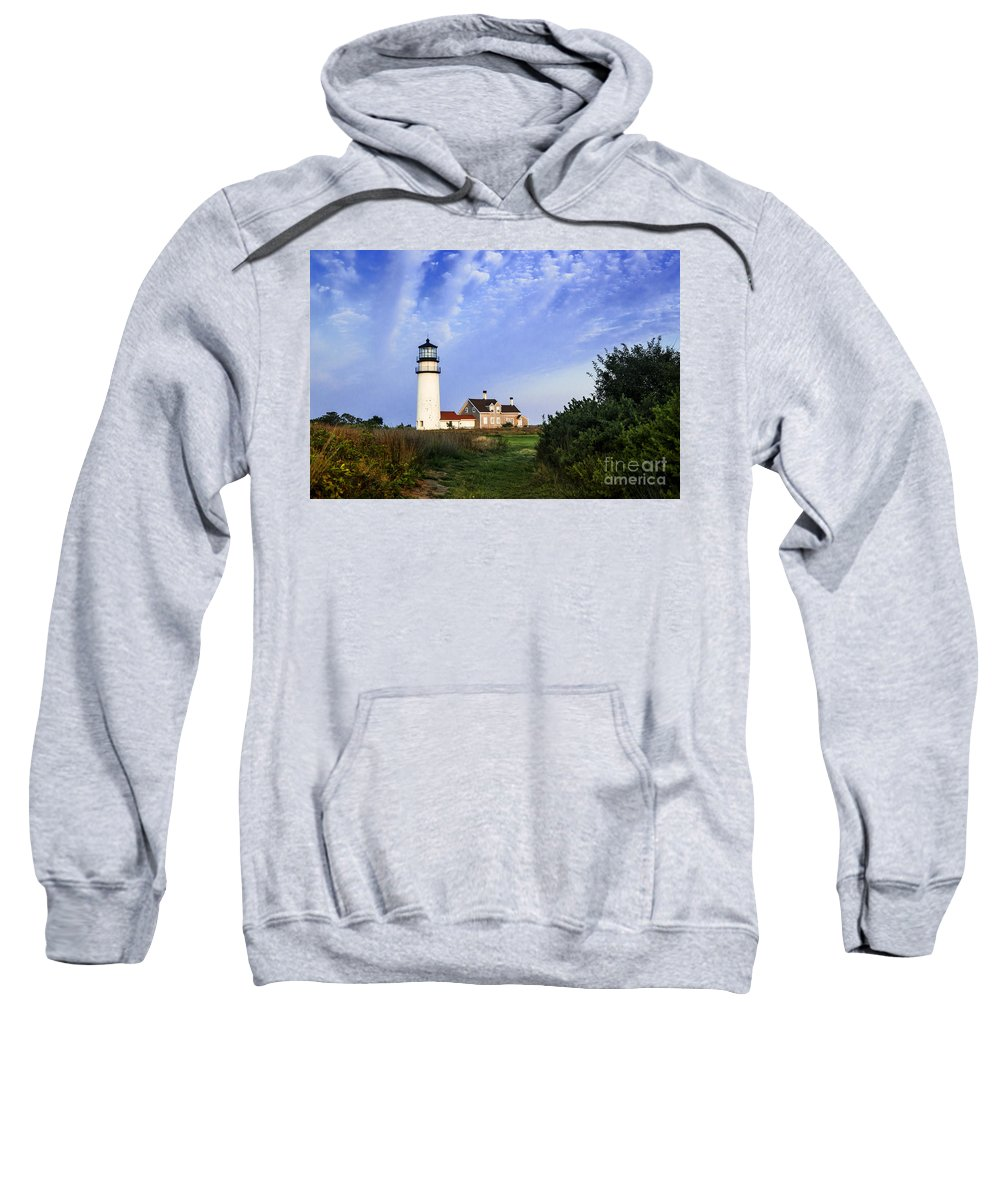 New England Sweatshirt featuring the photograph Cape Cod Lighthouse by John Greim
