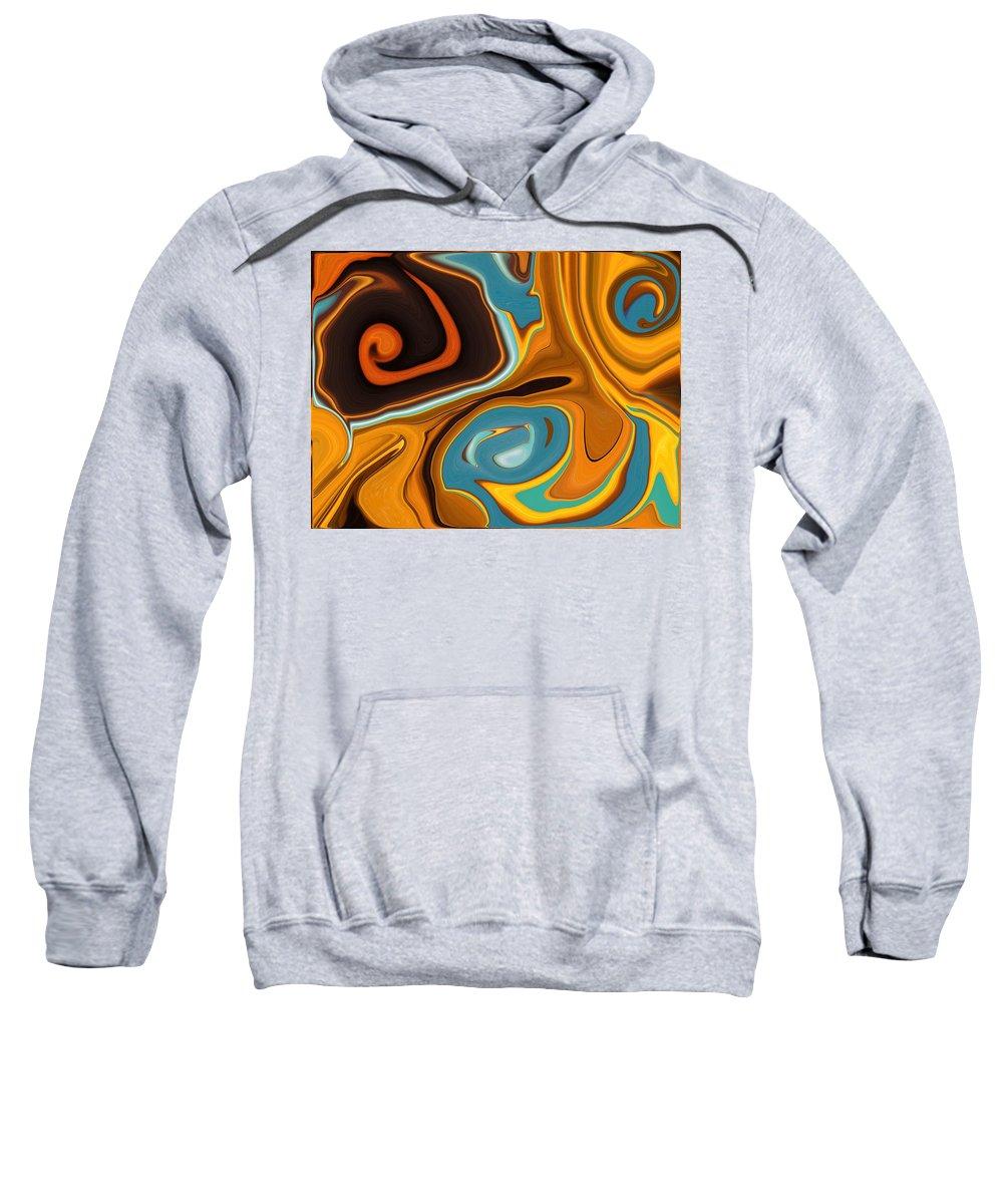 Caramel Sweatshirt featuring the painting Caramel Dreams by Renate Nadi Wesley