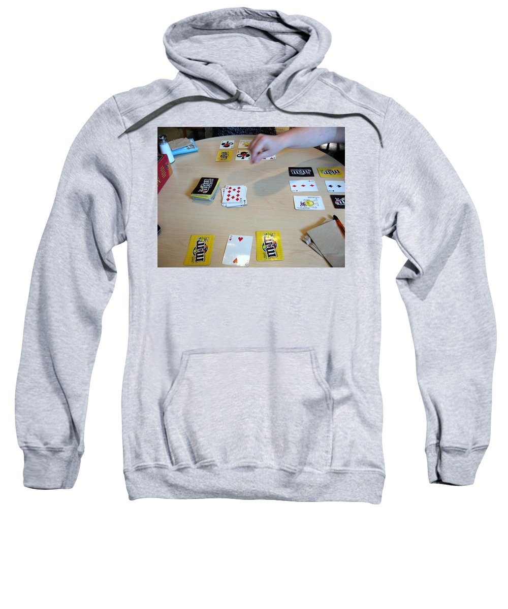 Cards Sweatshirt featuring the photograph Cards by Amy Hosp